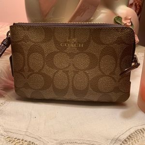 Coach Double-Zip Wristlet